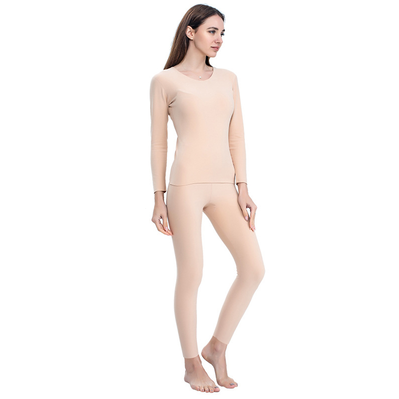 Solid Warm Soft Sweater Thermal Underwear Set For Female Full Sleeve Intimate Lingerie Women Thermo Lingerie Large Size 3XL