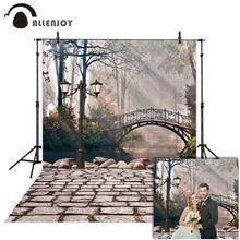 Allenjoy photophone backdrop for photographic studio European Arch bridge street lake wedding background fotografia photocall