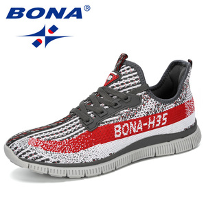 Image 1 - BONA 2019 New Summer Chaussure Homme Outdoor Men Running Shoes Mesh Sneakers Man Sport Shoes Walking Shoes Male Comfortable Shoe