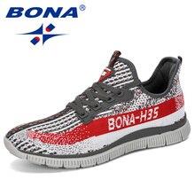 BONA Zapatillas deportivas de malla para hombre, calzado deportivo cómodo para caminar, para exteriores, 2019