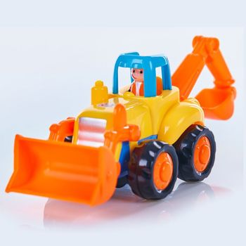 Thicken Push And Go Car Construction Vehicles Toys Pull Back Cartoon Play For 2 3 Years Old Boys Toddlers Kids Gift Y4QA image