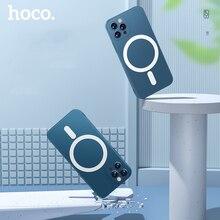 HOCO oryginalny płynny silikonowy magnetyczny futerał na telefon dla iPhone 11 11 Pro Max X XS XS Max XR Ultra Slim tylna okładka stylowy Premium