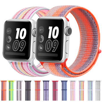 Sport watch band nylon strap apple for Apple 42mm 38mm 40mm 44mm smart bracelet iwatch 4 5 3 2 1
