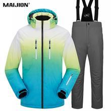 Man Women Thick Warm Ski Suit Waterproof Windproof Skiing Snowboarding Jacket Pants Set Unisex Ski Clothings