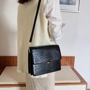 Image 5 - [BXX] Stone Pattern PU Leather Crossbody Bags For Women 2020 Autumn Brand Designer Shoulder Messenger Bag Female Handbags HI917