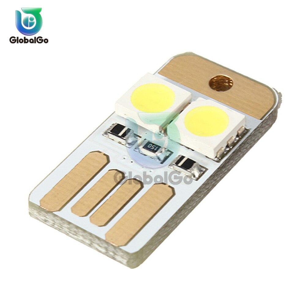 10pcs/Lot Mini 2LEDs USB 5V LED Night Light Desk Book Reading Lamp Camping Bulb For Mobile Charger Double USB Lights SMD2835