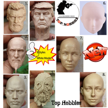 8 Styles 1/6Sca White Mold Unpainted Male/Female Doll Head Sculpture Daenery Nude Makeup