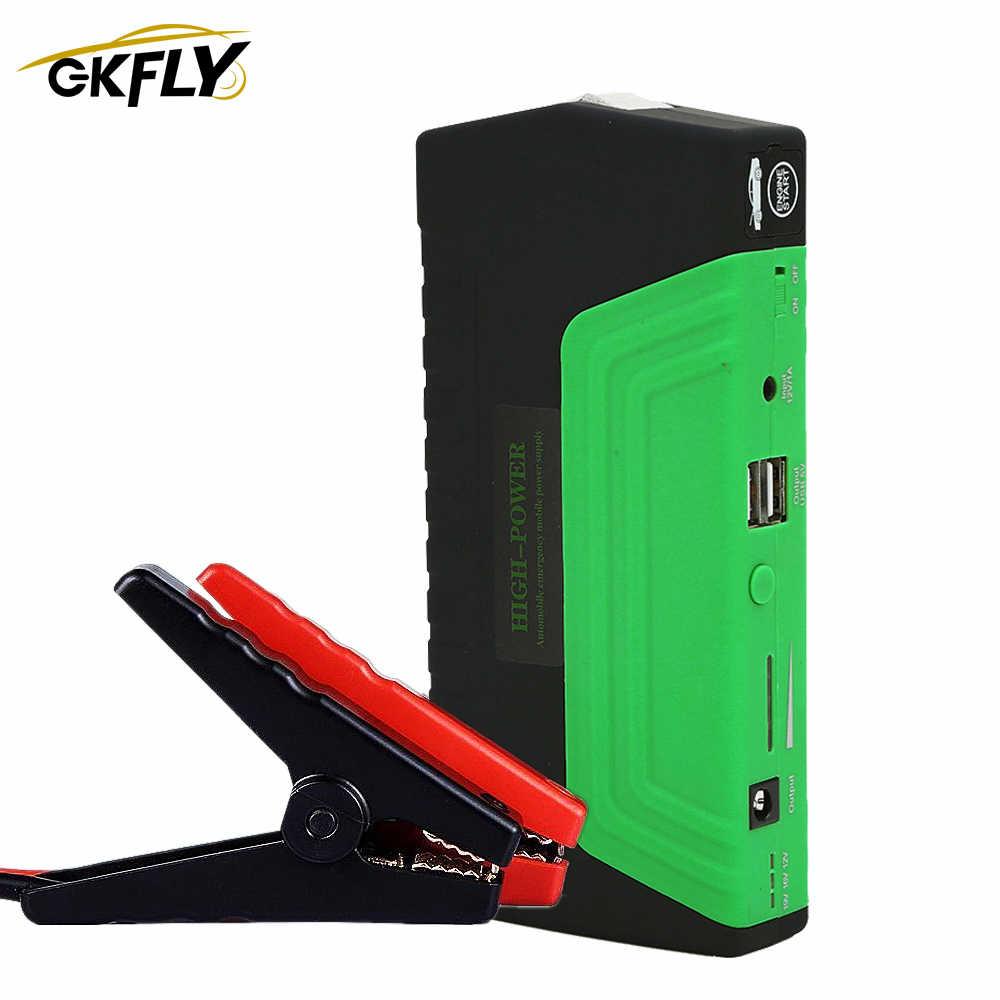 GKFLY o dużej pojemności urządzenie do uruchamiania awaryjnego samochodu Power Bank 12V 600A przenośne urządzenie do awaryjnego uruchamiania ładowarka samochodowa do wzmacniacz do akumulatora samochodowego Buster
