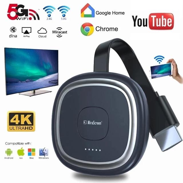 G20 TV Stick 5G WiFi 4K Full HD Display Dongle HDMI Media Video Streamerเครื่องรับสัญญาณทีวีDongleสำหรับGoogle Chromecast