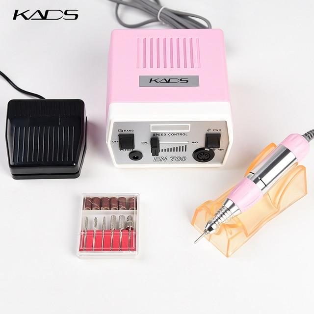 KADS perceuse à ongles 30000 tr/min, outils de manucure et pédicure, appareil électrique avec poignée, ensemble de mèches, 4 couleurs au choix