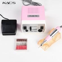 Kads 30000 rpm máquina de broca do prego manicure pedicure ferramentas máquina elétrica com alça & broca conjunto 4 cores escolha