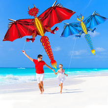 Outdoor Fun Toy  Hot 160cm / 64inches Wind Animal  Dragon LED Kite For Adults Children With Handle & Line Good Flying