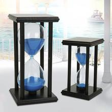 45/60min Wooden Sand Clock Sandglass Hourglass Timer Kitchen School Home Decor