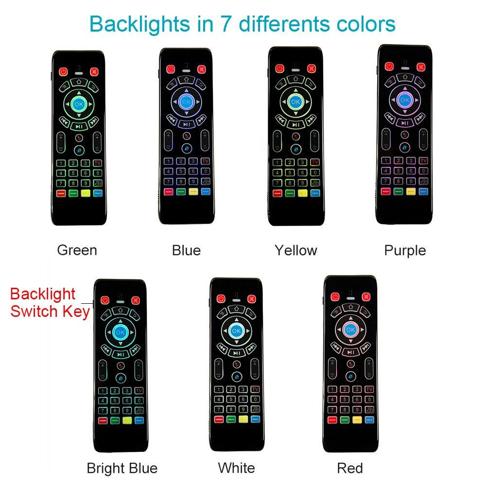 7 цветов задний светильник s сенсорная панель игровая мини клавиатура