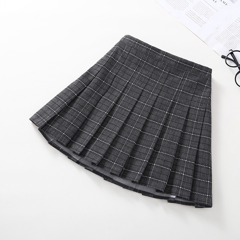 Image 5 - Japanese Girls Pleated Skirt Plaid Princess Party Clothes School Skirts High Waist Soft A Line Student Uniform Children Clothing-in Skirts from Mother & Kids