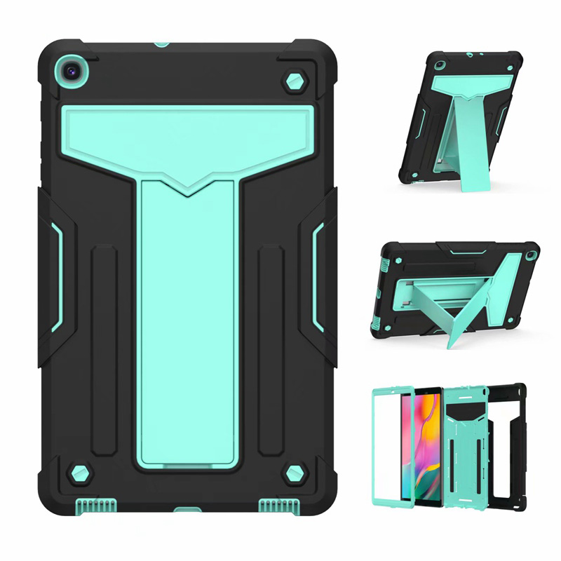 New PC+TPU <font><b>Case</b></font> for Samsung Galaxy Tab A 10.1'' 2019 SM-<font><b>T510</b></font> SM-T515 <font><b>T510</b></font> T515 Hybrid Armor Protective <font><b>Case</b></font> with Kickstand Stand image