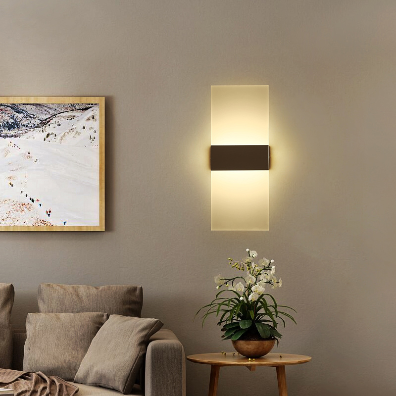 LED Fashionable Wall Lamp Bedroom Bedside Stairs Corridor Simple Wall Light 110V 220V Decorative Wall Light