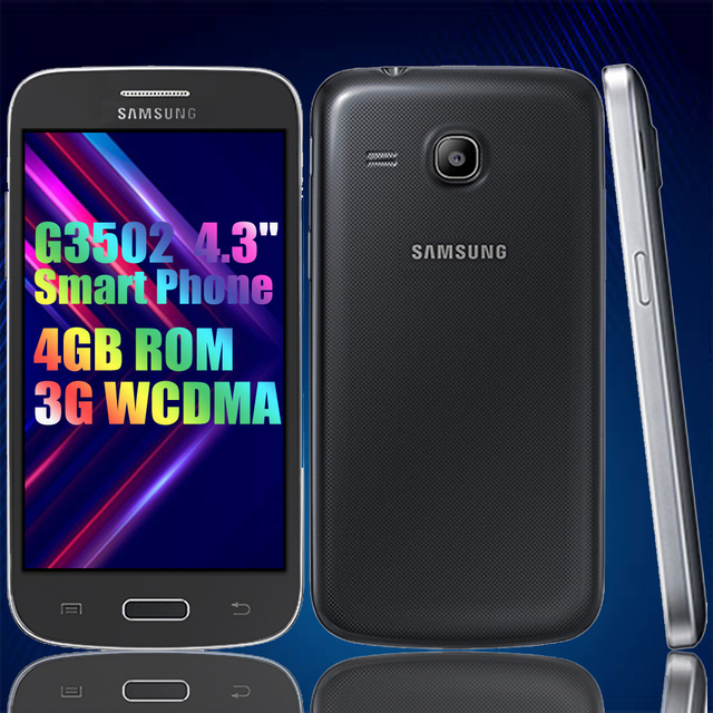Almost-New Smartphones Used Samsung Galaxy G3502 GPS 4.3inch 4GB ROM 3G WCDMA CellPhone 5.0MP Unlock Android Cheap Mobile Phones 3