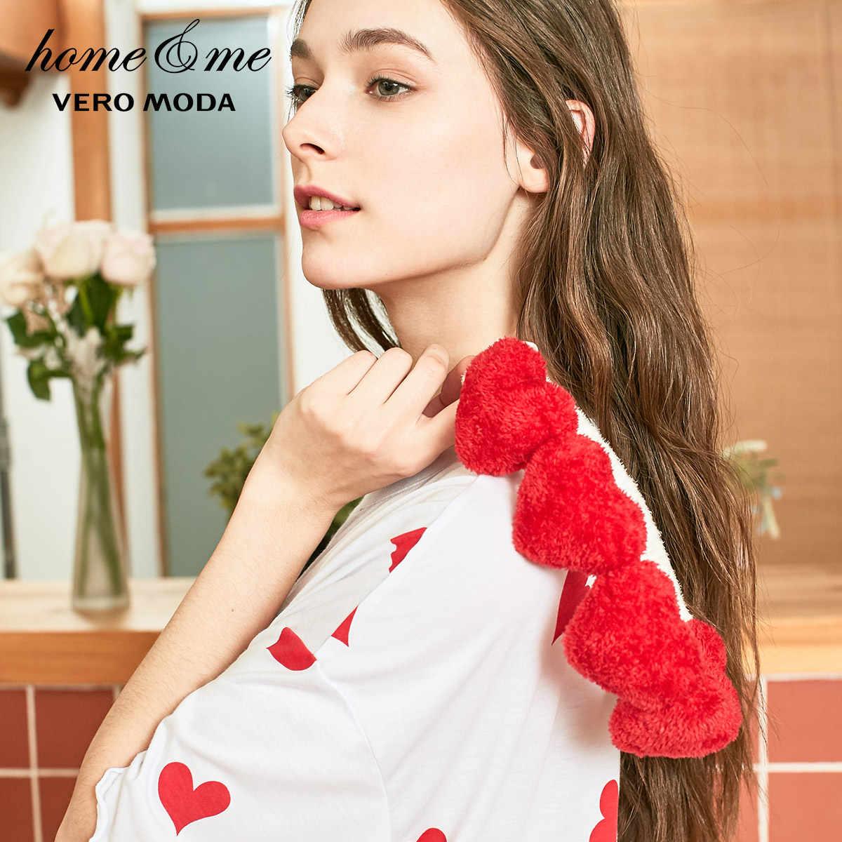 Vero Moda Nieuwe Vrouwen Hartvormige Print Haarband Loose Fit T-shirt Homewear Jurk | 319161527