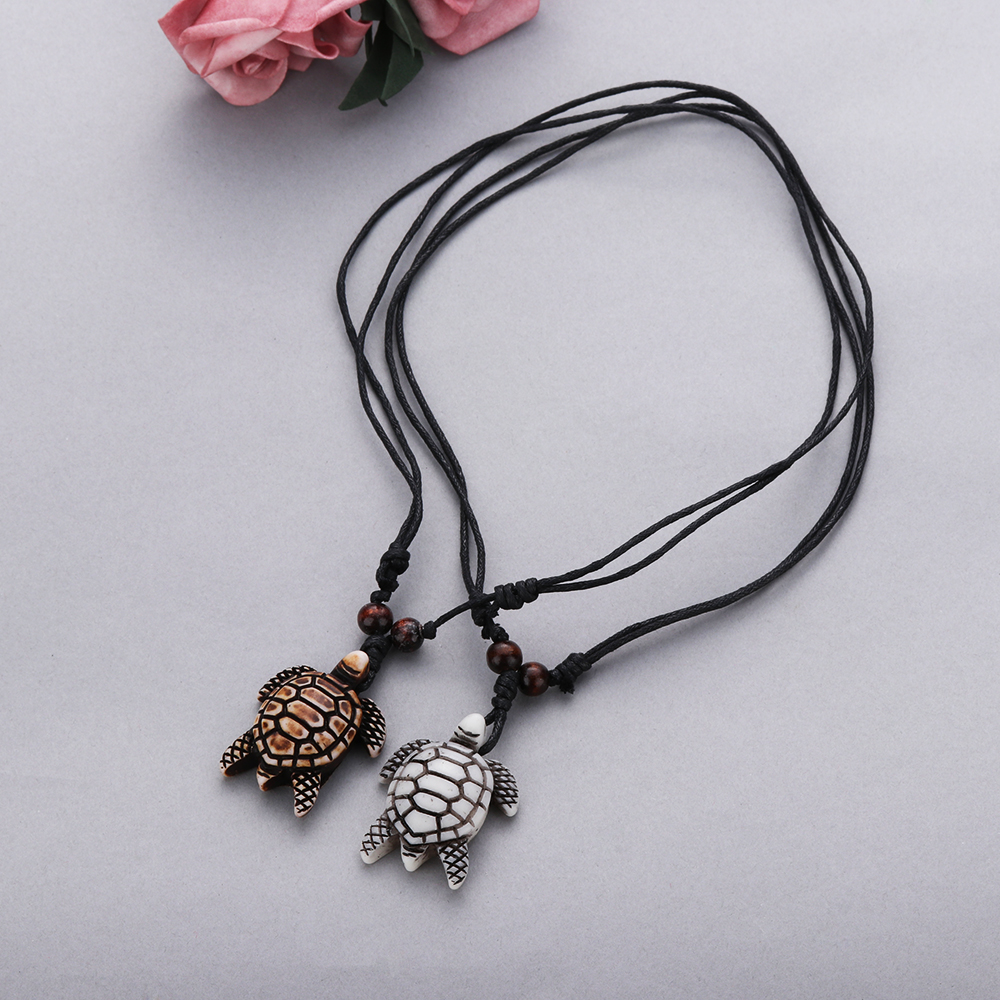 1pc Imitation Yak Bone Necklace Vintage Carved Turtle Pendant Amulet Lucky Blessing Gifts Women Men Fashion Jewelry Accessories Pendant Necklaces Aliexpress
