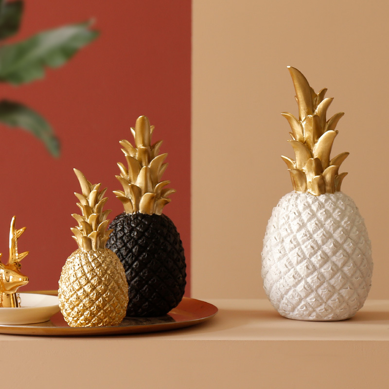 Золотой современный ананас скандинавский стиль орнамент Рабочий стол креативный винный шкаф окно для дома гостиной украшения на Рамадан п...