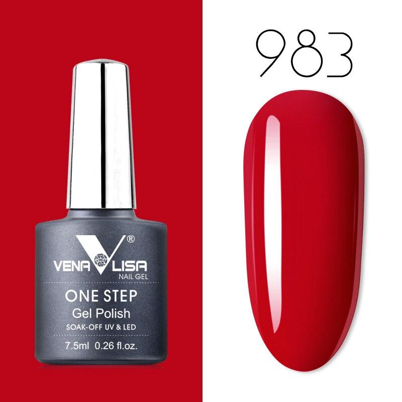 New Nail Art Design Manicure Venalisa 7.5Ml one step gel polish Soak Off Enamel Gel Polish UV Gel Nail Polish Lacquer Varnish(China)