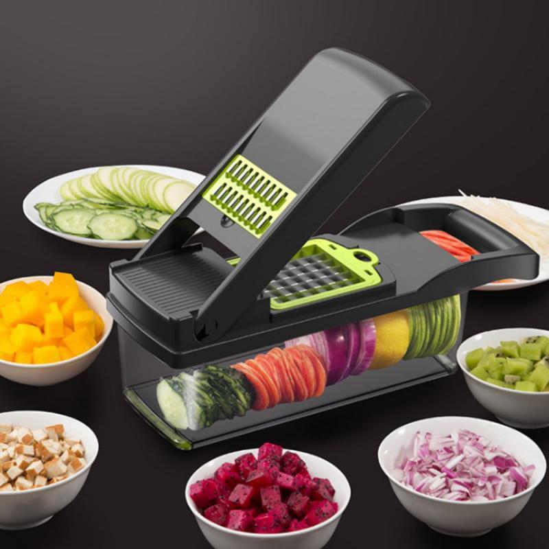 7 in 1 다목적 야채 커터 식품 슬라이서 다이 서 더 좋은 야채 과일 필러 쵸퍼 커터 당근 치즈 강판 주방