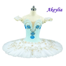 Women Professional Ballet Tutu Skirt Green White Childrens Nutcracker Classical Tutus Dress Dance Ballerina Costumes For Female