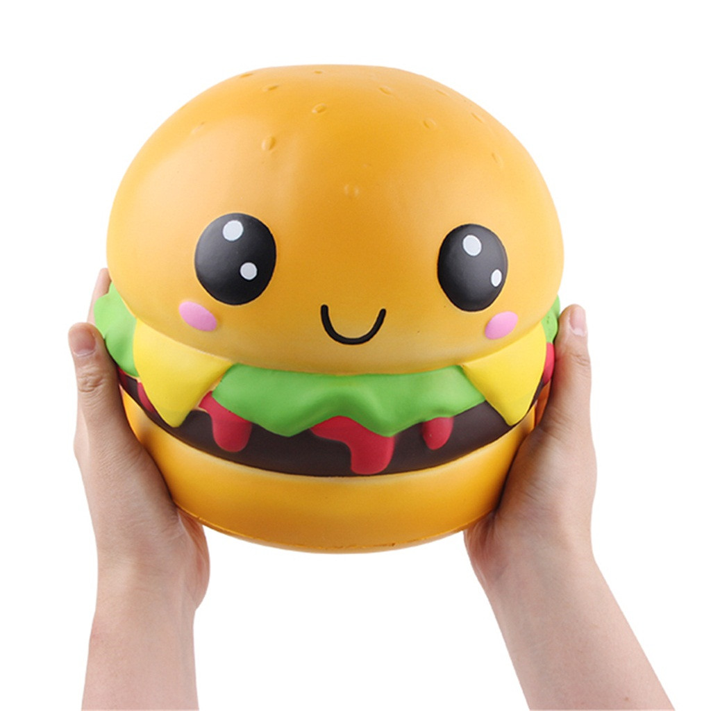Squishy Kawaii Gigantes Soft Squeeze Toys Squishy Adorable Squishies Jumbo Hamburger Slow Rising Cream Scented StresW731