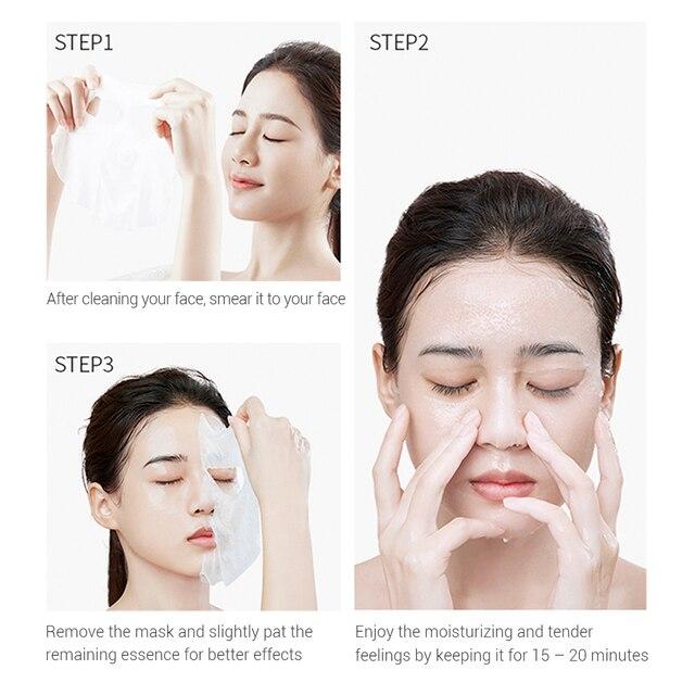 LANBENA Face Mask Fruit Facial Mask Japan Advanced Formula Whitening Moisturizing Water Locking Plant Extract Fresh Skin Care 5