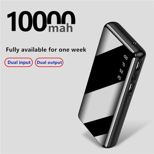 Image 4 - 10000 ポータブルミニ電源銀行高速充電ミラースクリーンデジタル表示 powerbank 懐中電灯照明スマートモービル電話