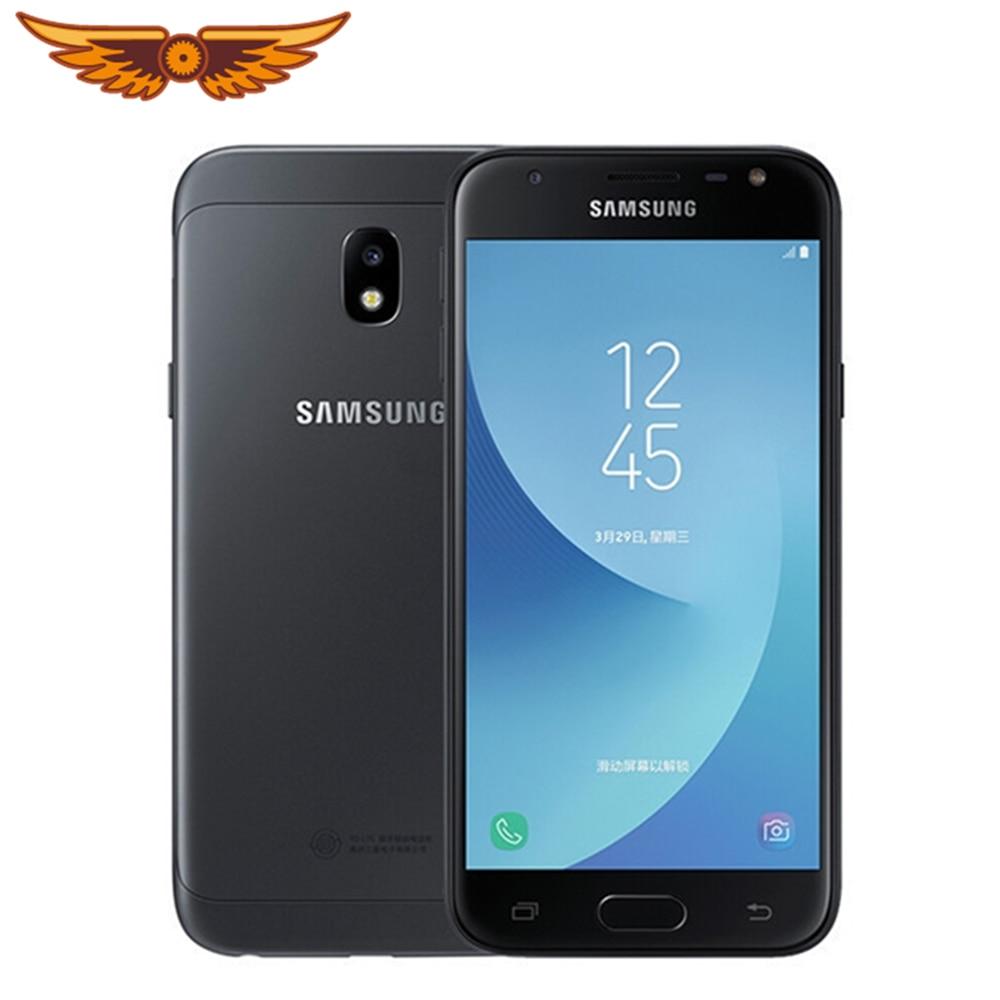 Samsung – smartphone Galaxy J3 (2017) débloqué, téléphone portable, 2 go de RAM, 16 go de ROM, Quad-core, écran 5.0 pouces, LTE, sans NFC, caméra 13mp, double SIM