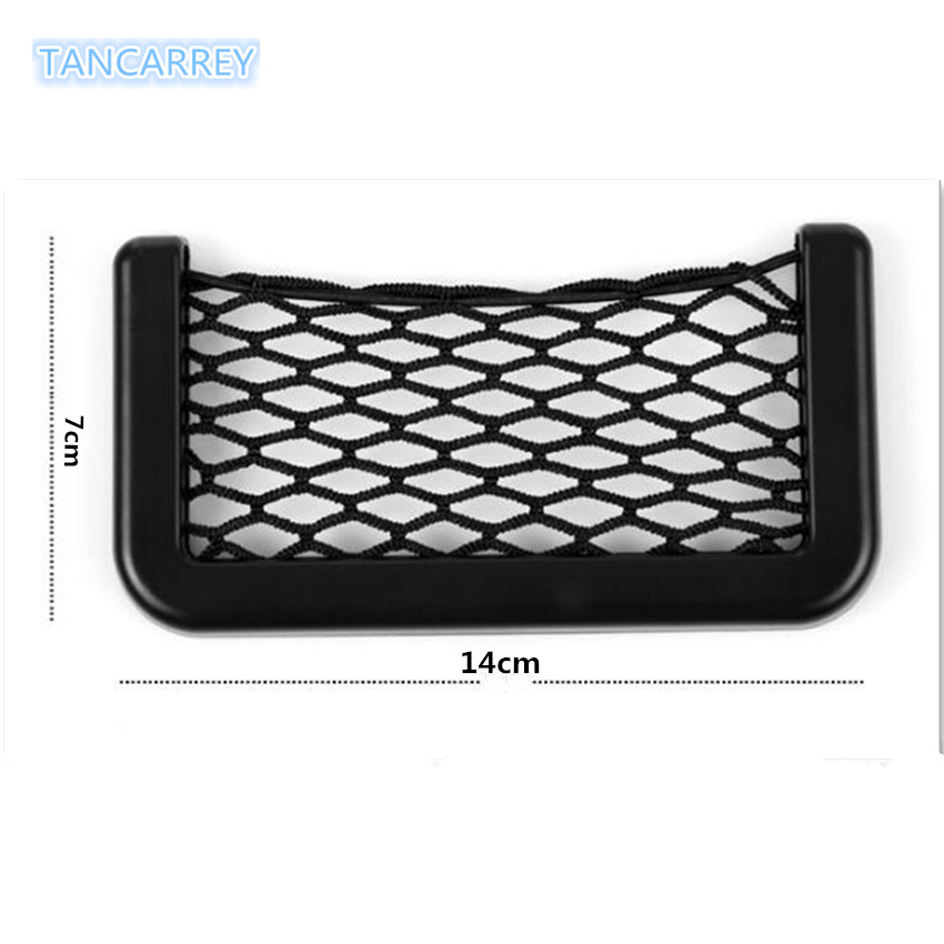1x Universal Car Seat Back Storage Net Bag FOR <font><b>toyota</b></font> <font><b>corolla</b></font> <font><b>e150</b></font> lancer 10 dodge caliber kia sportage creta hyundai renault image
