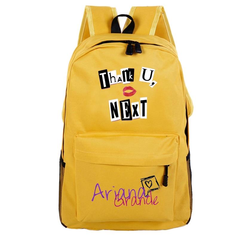 Ariana Grande School Bag Rucksack Fan Music Album Thank U Next Backpack