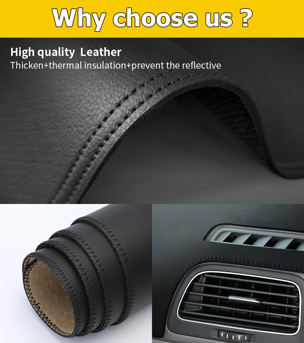 For Peugeot 508 Low profile 2015 year and before car dashboard cover dash mat pad dashmat non slip Leather Fannel in Car Anti dirty Pad from Automobiles Motorcycles
