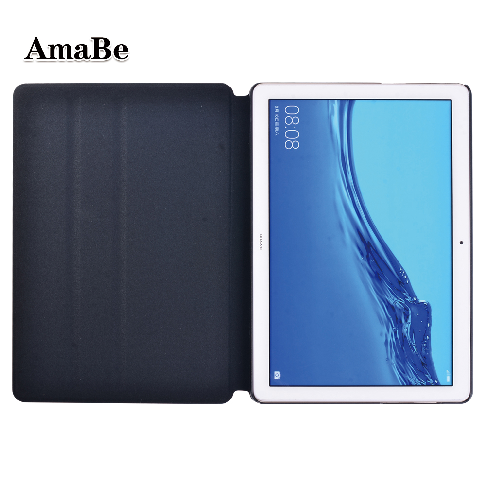 Drop Resistance Solid Case For Huawei MediaPad T5 10 10.1 Inch Anti-Dust Soft Leather Cover Case Protective Shell