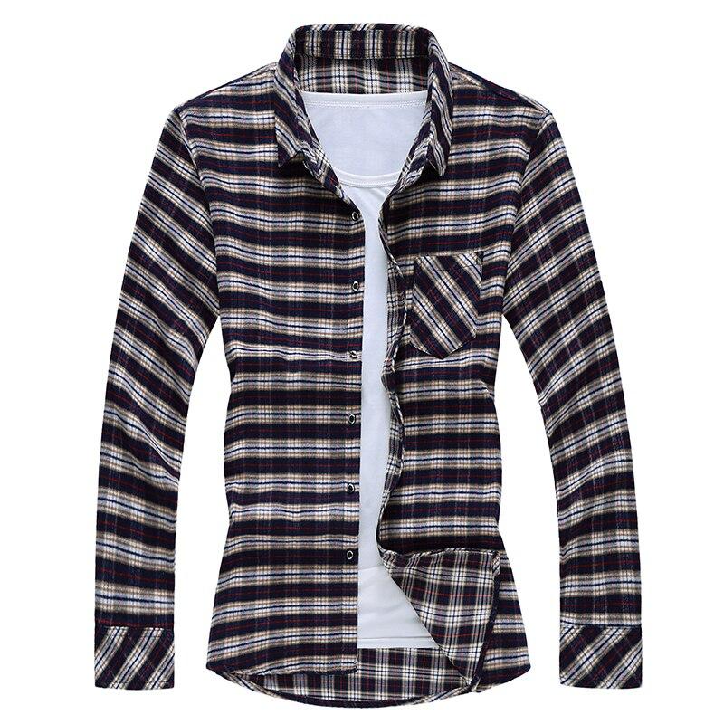 Рубашка для мужчин s Slim Fit с длинным рукавом, рубашки для мужчин, мужская рубашка в стиле кэжуал, 2019, осенняя клетчатая рубашка aa07