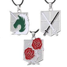 Attack on Titan Necklaces Wings of Liberty Scouting Legion Cosplay Eren Pendant Necklace for Women Men Jewelry Gift