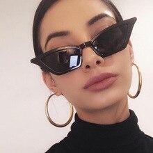 2021 новинка маленькая оправа кошка% 27s глаза солнцезащитные очки женщины% 27 улица фото РЕТРО СОЛНЦЕЗАЩИТНЫЕ ОЧКИ разноцветные очки мода пластик петля