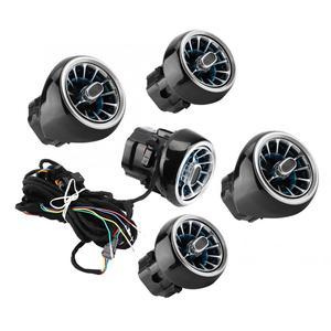 Image 3 - LED טורבינת אוויר vent רכב מיזוג אוויר vent קישוט סביבה אור מנורת עבור בנץ/C /E/ GLC/ CLA כיתת W205 W213 X253 W117
