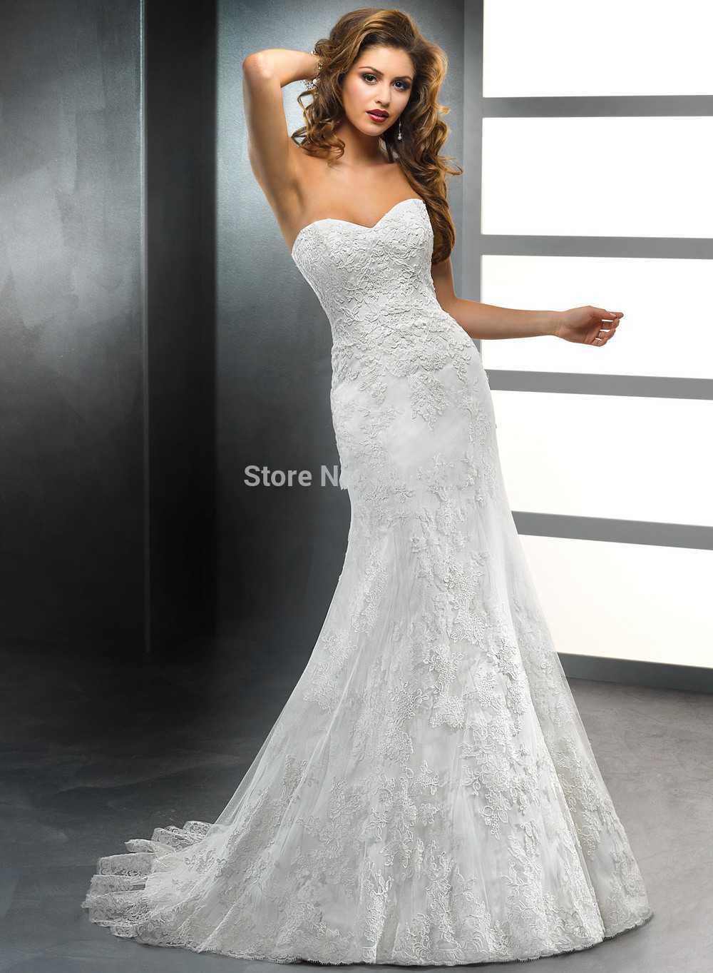 Robe De Marriage Mermaid Strapless Mermaid Lace Elegant Vestido De Noiva Casamento Bridal Gown 2018 Mother Of The Bride Dresses