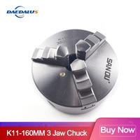 Self centering Manual 3 jaw drilling chuck K11 160mm min chuck Jaw chuck machine accessories for DIY metal lathe