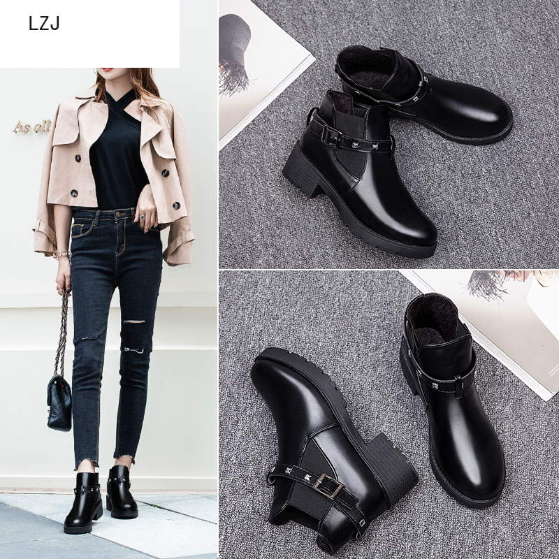 Winter Boots Shoes Heels Plush-Insole Suede Lace-Up Classic Women Hot Ankle Warm-Fur title=