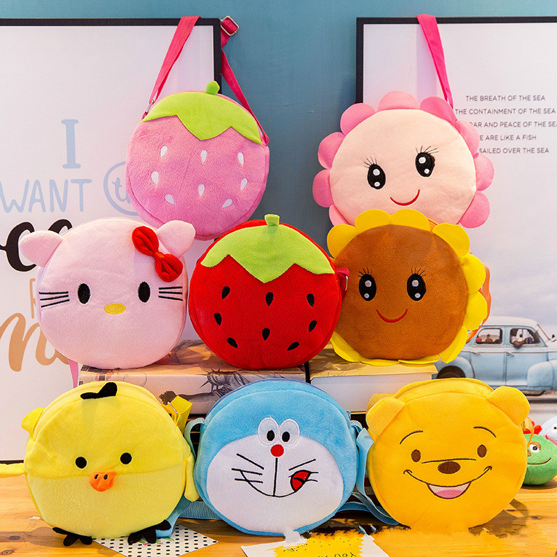 New Fashion Backpack Listed Plush Toys Kids Girls Boys Kawaii Wallet Money Phone Bag