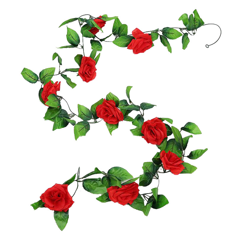 Bunga Buatan Bunga Mawar Palsu Mawar Sutra Vine Tanaman Plastik Fake Bunga Untuk Pesta Pernikahan Rumah Garland Dekorasi Rose Vine Buatan Bunga Kering Aliexpress