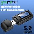 USB Bluetooth адаптер-ключ 5 0 приемник передатчик ЖК-дисплей аудио 3 5 мм AUX Jack стерео адаптер для автомобиля ПК ТВ наушники