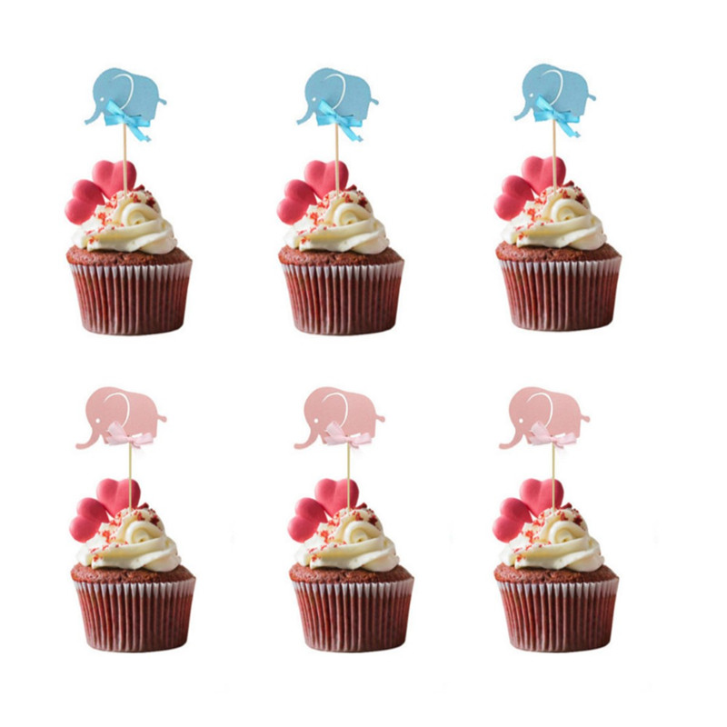 10//40pc Love Heart Birthday Cupcake Toppers Party Baby Shower Wedding Cake Decor