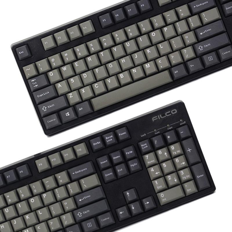 PBT Two-color Key Cap Dolch Retro Key Cap Original Height Suitable for Cherry G80-3000 3494 G104