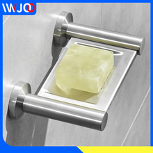 Bathroom Soap Holder Drain Stainless Steel Soap Dish Shower Storage Rack Wall Mounted Creative Hotel Home Toilet Soap Rack Tray все цены