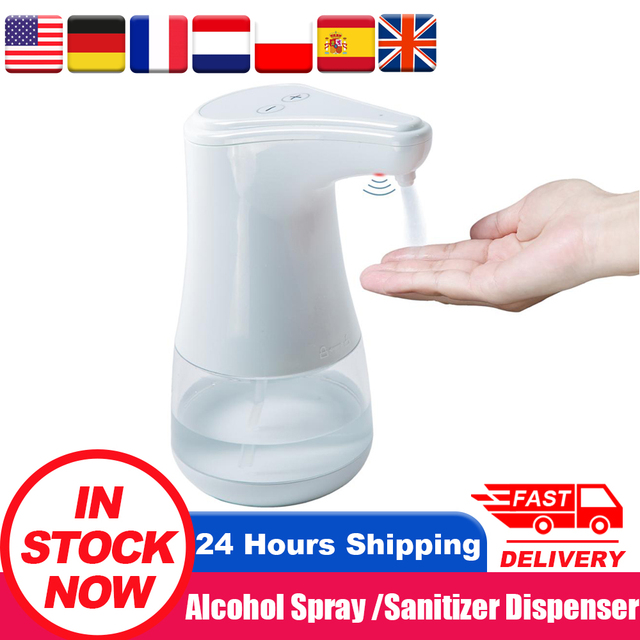 Automatic soap dispenser, Non-contact alcohol disinfectant spray with IR sensor